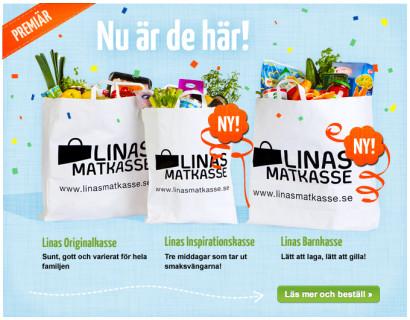Premiär för nya matkassar från Linas Matkasse