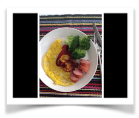 Omelett med korv